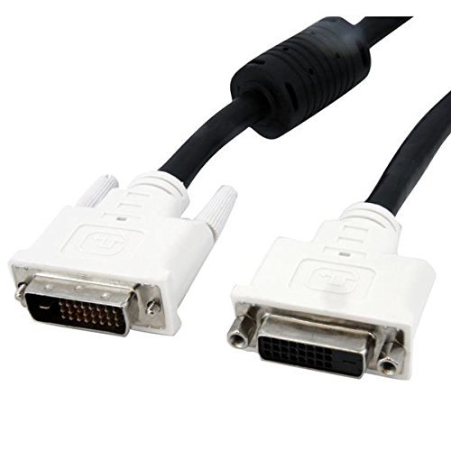 StarTech.com DVI Extension Cable - 6 ft - Male to Female Cable - 2560x1600 - DVI-D Cable - Computer Monitor Cable - DVI Cord - Video (Dvi Cable Extender)