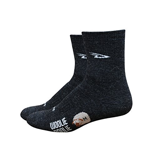 DeFeet Men's Woolie Boolie 4-Inch Sock, Charcoal, Large