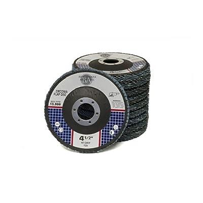 "4.5"" x 7/8"" Premium Zirconia Flap Disc Grinding Wheel Type 29 - 10 Pack"
