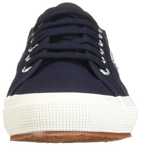 Superga Women's 2750 Cotu Classic Sneaker, Navy/White, 9.5 M US