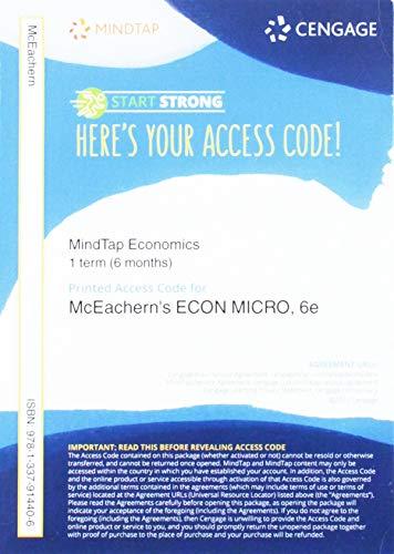 MindTap Economics, 1 term (6 Months) Printed Access Card for McEachern's ECON MICRO 6
