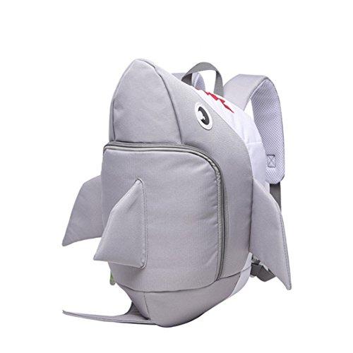 Price comparison product image BellyAnna Boutique Children Cute Shark Cartoon High Capacity School Bag Backpack