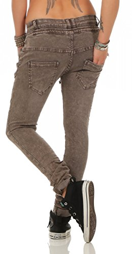 Taille empire fonc cinder Fashion4Young Jeans bleu Femme bleu 42 L 19 THqEE5x