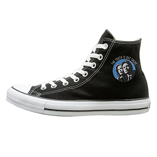 HoHo The X-Files Casual Unisex Black High-tops Canvas Shoes