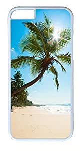 iPhone 6 Cases, ACESR Plastic Hard Case Cover for Apple Iphone 6 (4.7inch Screen) White Border Coastal Scenery