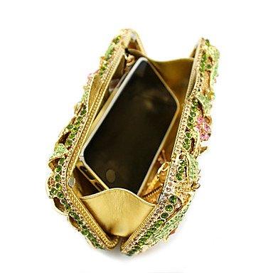 Las mujeres oficiales de Metal / Evento/fiesta / Bolsa de noche de bodas/Crystal bolsa de mano los diamantes gema de embrague Purse,Golden Golden