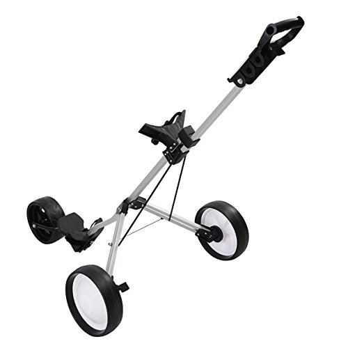 MD Group Golf Cart Push Trolley Pull Wheel Foldable Club Swivel Holder Lightweight Aluminum by MD Group (Image #2)