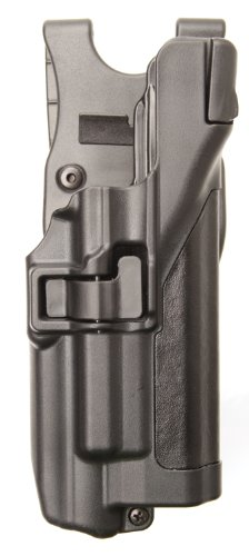 (BLACKHAWK! Level 3 SERPA Light Bearing Auto Lock Duty Plain Finish Holster, Size 04, Right Hand, (Beretta 92/96/M9 Std or A1 w/rails (NOT Brig/Elite))