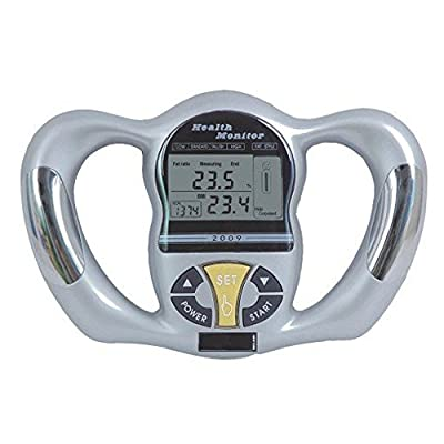 PU Health Pure Acoustics Professional Handheld Body Fat Analyzer bmi Health Monitor, Silver, 340.19399999999996 Gram