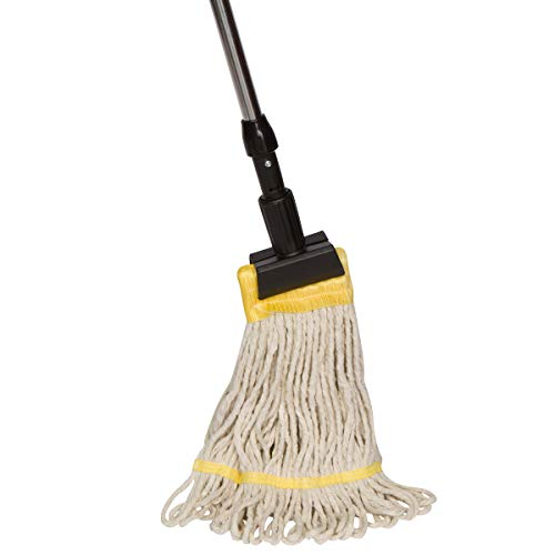 Tidy Tools Industrial Grade String Mop With Aluminum Handle and Jaw Clamp - 20.5 Oz Cotton Mop Head With Looped Ends ()