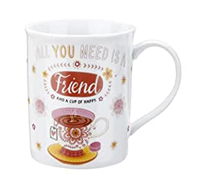 DEMDACO Friend Mug and Greeting Card, Multicolor