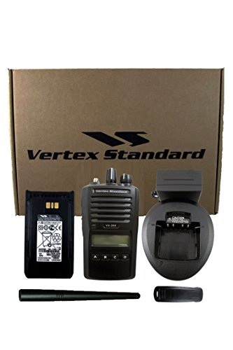 Vertex Standard Original VX-264-G7-5 UHF 450-512 MHz Handheld Two-way Transceiver 5 Watts, 128 Channels/8 Groups, with Display - 3 Year Warranty (Vertex Standard Transceiver)