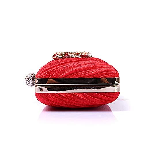 Xiaoqin da donna da da in Blue sera sposa Borsa frizione da Red scintillante con Borsa Borsa Pochette cristallo da Color sposa sera XrTxvXwq