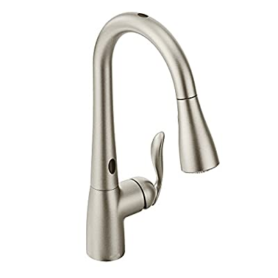 Moen 7594ESRS Arbor Motionsense Two-Sensor Touchless One-Handle High Arc Pulldown Kitchen Faucet Featuring Reflex, Spot Resist Stainless