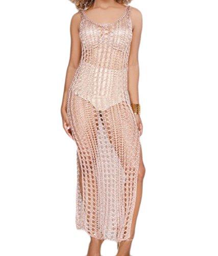 Sexy Top Abito Albicocche Aderente Vestibilità Vuoto Bikini Colore Puro Di Coolred donne Involucro TqC0wCZx