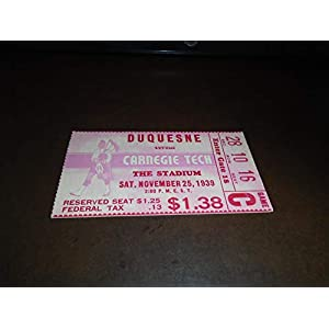1939 DUQUESNE AT CARNEGIE TECH COLLEGE FOOTBALL TICKET STUB EX MINT