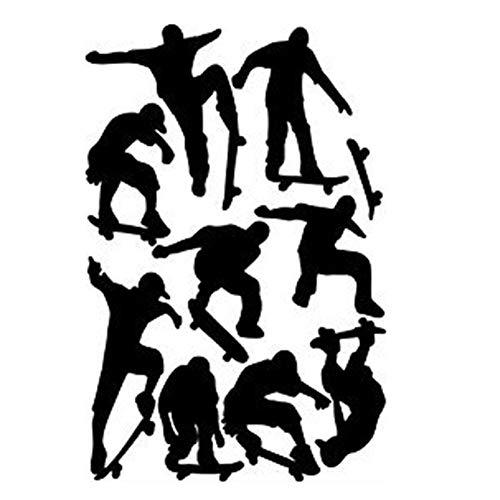 DierCosy Home Decorating Skateboard Boy Black PVC Skateboard Entertainment Sports Wall Sticker Decal DIY Tools