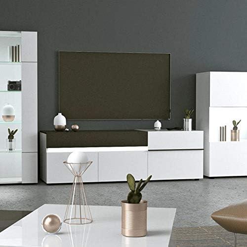 NOUVOMEUBLE Santana - Mueble Grande para televisor, Color Blanco y Gris Lacado: Amazon.es: Hogar