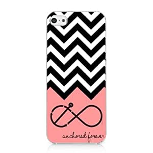 Anchored Forever Chevron Coral Snap on Case Hard Cover for iphone 6 plus 2013 New