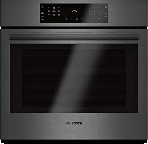 Bosch HBL8443UC 800 Series 30 Inch Black Stainless Steel Electric Single Wall Convection Oven (Black Stainless Steel)