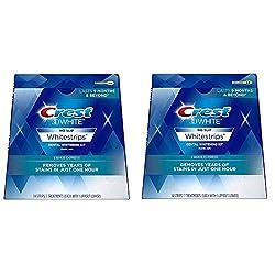 Crest 3D Whitestrips 1-Hour Express Dental Whitening Kit, Pack of 2 SET