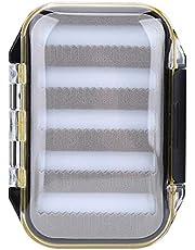 Wolfgo Fly Lure Box-Double Side Waterproof Fly Fishing Box Cojín de Espuma Señuelos Estuche para Estuche (Forma de Garra)