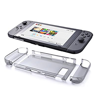 Nintendo Switch Clear Case, Sunix Protective Shell Case Transparent Hard Back Cover, Tablet Case and Joy Con Cases for Nintendo Switch by Sunix