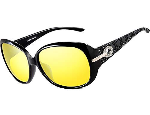 ATTCL Women's Night Driving Glasses Anti-glare Polarized HD Night Vision ()