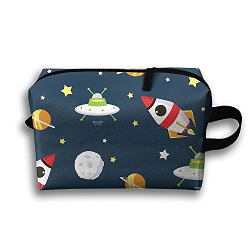Portable Toiletry Bag Valentine's Day Travel Make Up Pouch Travel Gadget Organizer Toiletry Bag Space Star - Sunglasses Ufo