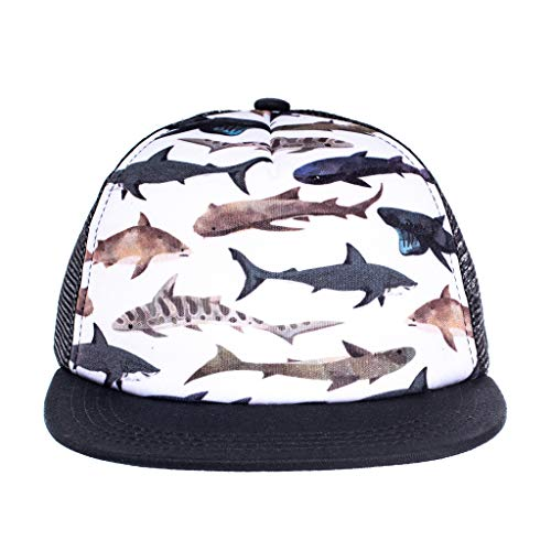 (Born to Love Baby Boy Infant Trucker Hat Snap Back Sun Mesh Baseball Cap (L 56cm, Sharks))