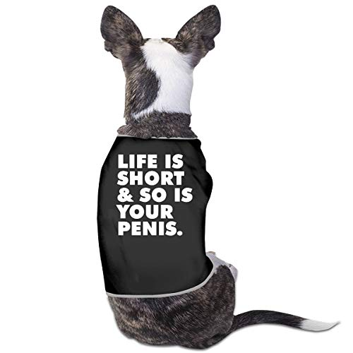 COLLJL8 Life is Short So is Your Penis Pet Clothing Costumes Puppy Dog Clothes Vest Tee Shirts]()