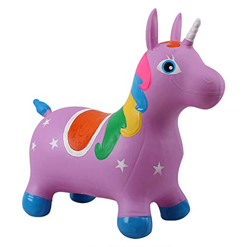 Hopper Kit, Pump Included, Children's Jumping Hopper, Ride-On Bouncy Unicorn Horse Hopper, Sit and Bounce,B by SXJ