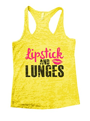 Cheap Ladies Burnout Gym Workout Tank Top Lipstick and Lunges - Funny Threadz supplier