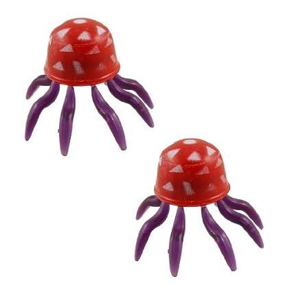 Amazon.com: eDealMax 2-pieza de plástico emulational acuario medusas Decoración Conjunto, Rojo/púrpura: Pet Supplies