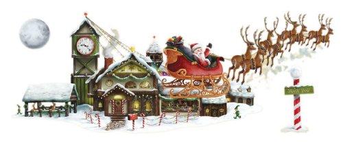 Santa's Sleigh & Workshop Props Party Accessory (1 count) (4/Pkg) -