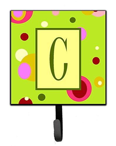 Caroline's Treasures CJ1010-CSH4 Letter C Initial Monogram-Green Leash Holder or Key Hook, Small, Multicolor