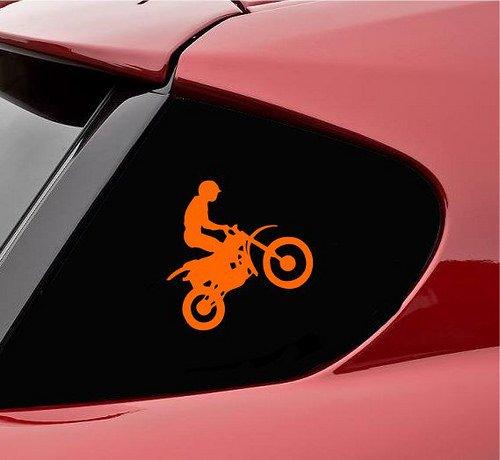 Dirt Bike Jumping Dirtbike Motorcross Boots Gear Pants Gloves Bikes Grip Stunt Stunting Vinyl Decal Sticker - Grips Orange Dirtbike