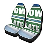 Pinbeam Car Seat Covers Act Now Later Dont Waste Window of Opportunity Urgent Set of 2 Auto Accessories Protectors Car Decor Universal Fit for Car Truck SUV