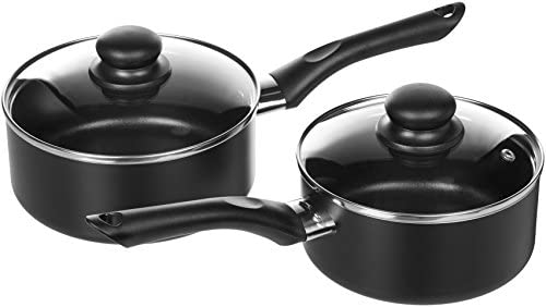 AmazonBasics Non-Stick Cookware Set, Pots and Pans – 8-Piece Set 41tv S0taaL