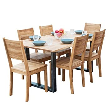 Peachy Inovapl Dinner Table 6 Chairs Dinning Set Natural Wood Oak Download Free Architecture Designs Intelgarnamadebymaigaardcom