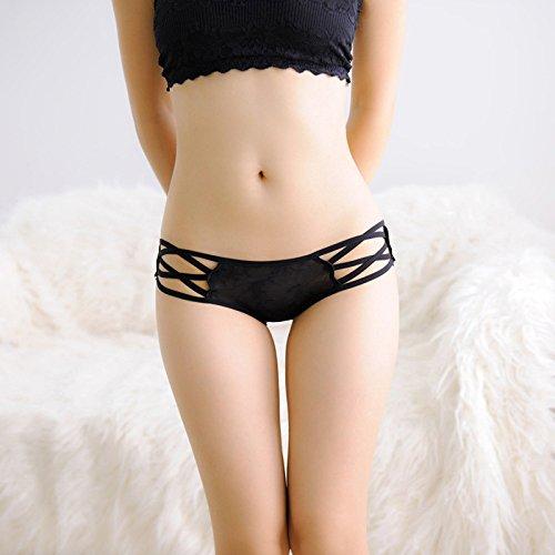 Culotte Femme Mme Joli petit coin 3 sangle sous-vêtements sexy femme Pantalon Low-Rise radioscopie sous-vêtements rouge ,