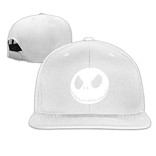 Karoda JACK's Nightmare Flat Brim Baseball Caps Hip Hop Hat White