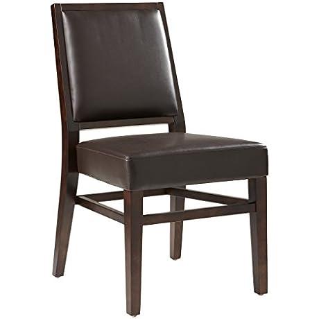 Sunpan Modern Citizen Leather Dining Chair Set Of 2 Brown