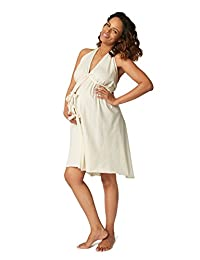 Pretty Pushers Unbleached Cotton Jersey Labor Gown