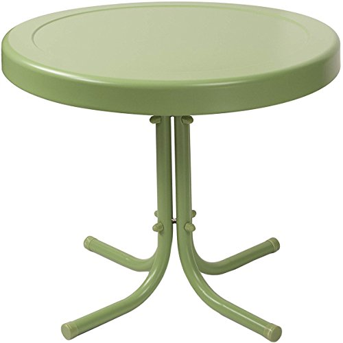 (Crosley Furniture Gracie Retro 20-inch Metal Outdoor Side Table - Oasis Green)