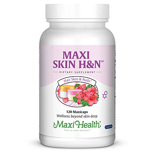 Maxi Health Skin HampN  Skin  Hair  Nail Formula  with Vitamin A amp Biotin  120 Capsules  Kosher