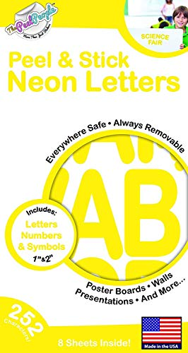 (252 PC Peel and Stick Letters & Numbers, 1