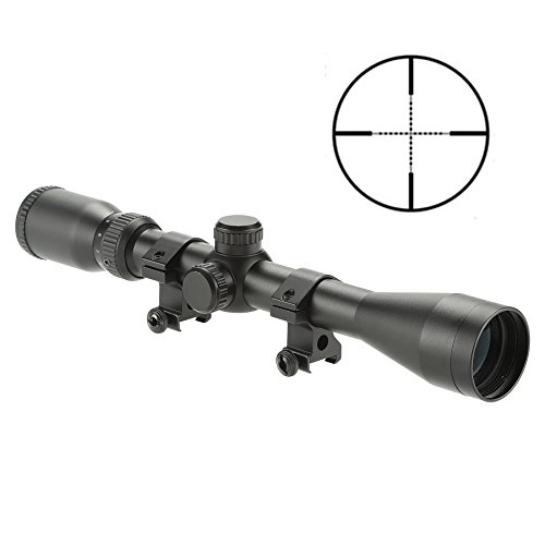 Pinty Pro 4-12X40 Mil-dot Tactical Rifle Scope Optics Optical Scope for Hunting with Aircraft-Grade Aluminum Alloy Tube, Waterproof Fog Proof (Best 4 12x40 Scope For The Money)
