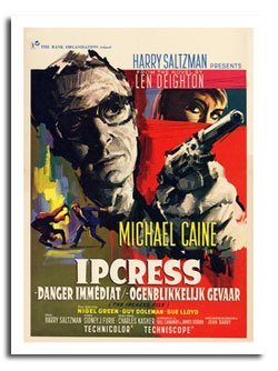 Iposters Ipcress File Michale Caine Belgian Movie Poster Print - Approx Size 40 X 30 Cms (15.5 X 11.5 Inches) ()