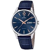 Relógio Festina Masculino Couro Azul - F20205/3